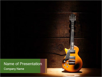 Electric guitar PowerPoint Templates - Slide 1