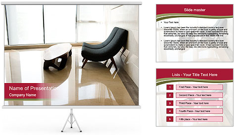 Stylish Living Room PowerPoint Template