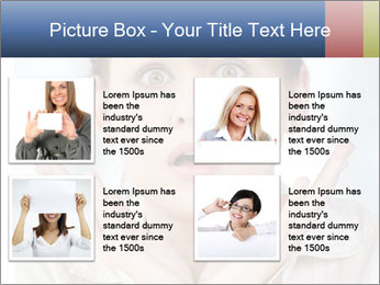 Woman With Green Paper Sticker PowerPoint Template - Slide 14