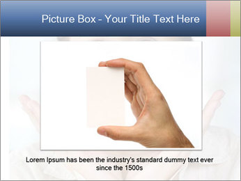 Woman With Green Paper Sticker PowerPoint Templates - Slide 15