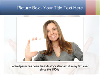 Woman With Green Paper Sticker PowerPoint Template - Slide 16