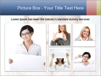 Woman With Green Paper Sticker PowerPoint Template - Slide 19