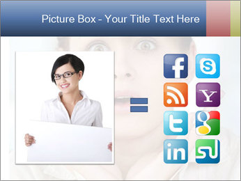 Woman With Green Paper Sticker PowerPoint Template - Slide 21