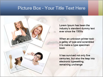 Woman With Green Paper Sticker PowerPoint Template - Slide 23