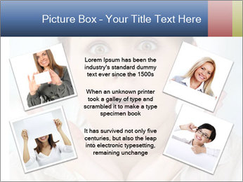 Woman With Green Paper Sticker PowerPoint Template - Slide 24