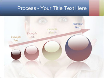 Woman With Green Paper Sticker PowerPoint Template - Slide 87