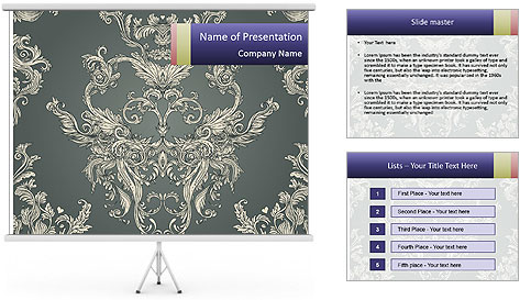 Seamless vintage PowerPoint Template