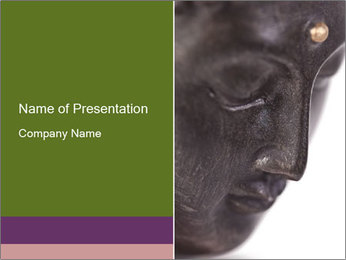 Buddha statue PowerPoint Template