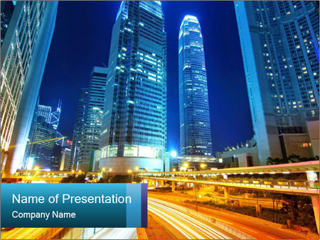 Traffic through downtown PowerPoint Template