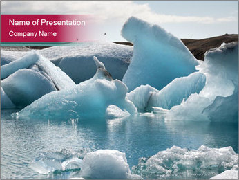 Icebergs on the Jokulsarlon PowerPoint Template