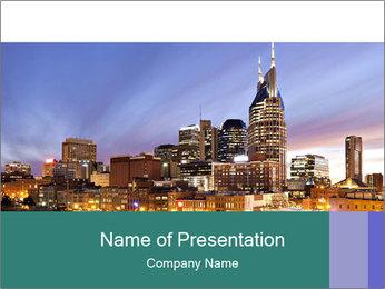 Skyline of Nashville PowerPoint Templates - Slide 1
