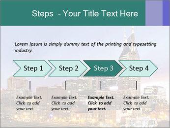 Skyline of Nashville PowerPoint Templates - Slide 4
