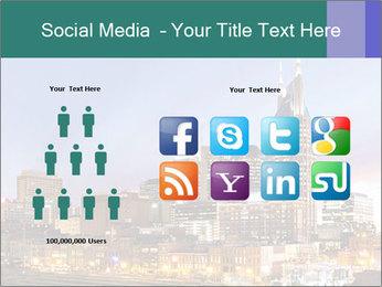 Skyline of Nashville PowerPoint Templates - Slide 5