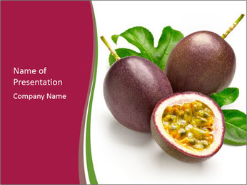 Passion fruit PowerPoint Template - Slide 1