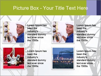Repairing a power line PowerPoint Template - Slide 14