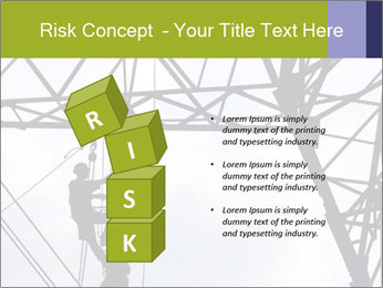Repairing a power line PowerPoint Template - Slide 81