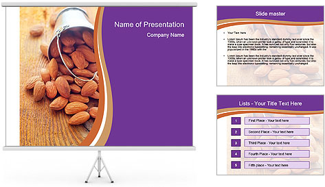 Nuts PowerPoint Template