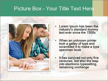 Student girl sitting for exam PowerPoint Template - Slide 13