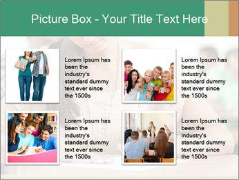 Student girl sitting for exam PowerPoint Template - Slide 14