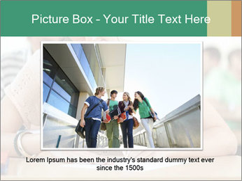 Student girl sitting for exam PowerPoint Template - Slide 15