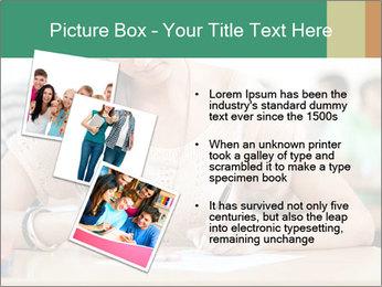 Student girl sitting for exam PowerPoint Template - Slide 17
