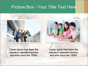 Student girl sitting for exam PowerPoint Template - Slide 18