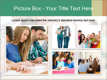 Student girl sitting for exam PowerPoint Template - Slide 19