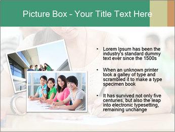 Student girl sitting for exam PowerPoint Template - Slide 20