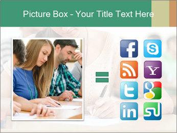 Student girl sitting for exam PowerPoint Template - Slide 21