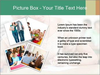 Student girl sitting for exam PowerPoint Template - Slide 23