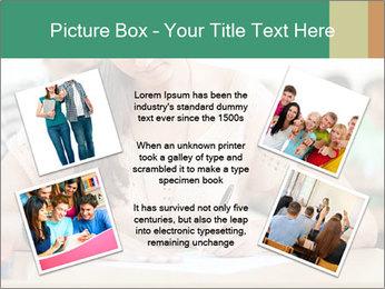 Student girl sitting for exam PowerPoint Template - Slide 24