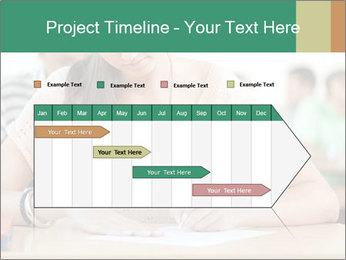 Student girl sitting for exam PowerPoint Template - Slide 25