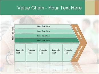Student girl sitting for exam PowerPoint Template - Slide 27