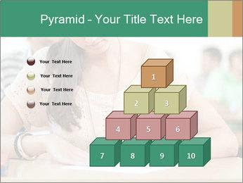Student girl sitting for exam PowerPoint Template - Slide 31