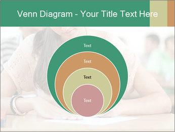 Student girl sitting for exam PowerPoint Template - Slide 34