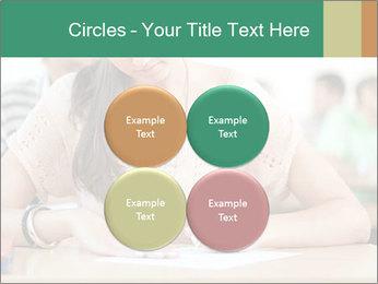 Student girl sitting for exam PowerPoint Template - Slide 38