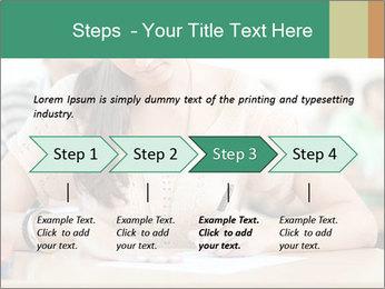 Student girl sitting for exam PowerPoint Template - Slide 4