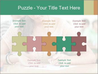 Student girl sitting for exam PowerPoint Template - Slide 41