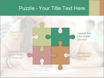 Student girl sitting for exam PowerPoint Template - Slide 43