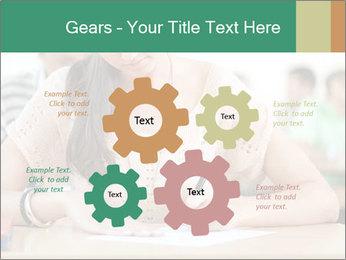 Student girl sitting for exam PowerPoint Template - Slide 47