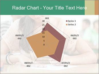 Student girl sitting for exam PowerPoint Template - Slide 51