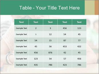 Student girl sitting for exam PowerPoint Template - Slide 55