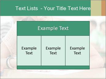 Student girl sitting for exam PowerPoint Template - Slide 59
