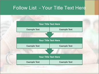 Student girl sitting for exam PowerPoint Template - Slide 60