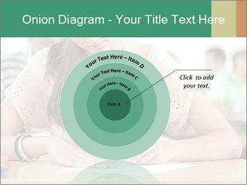 Student girl sitting for exam PowerPoint Template - Slide 61