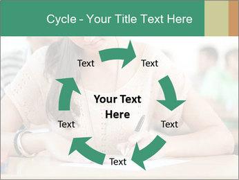Student girl sitting for exam PowerPoint Template - Slide 62