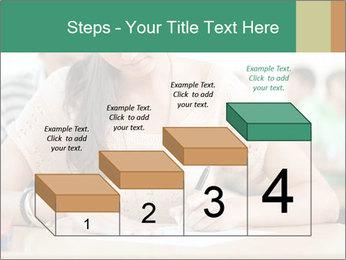 Student girl sitting for exam PowerPoint Template - Slide 64