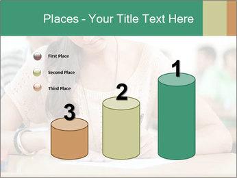 Student girl sitting for exam PowerPoint Template - Slide 65