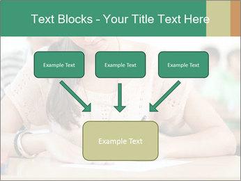 Student girl sitting for exam PowerPoint Template - Slide 70