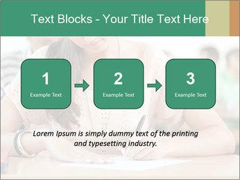 Student girl sitting for exam PowerPoint Template - Slide 71